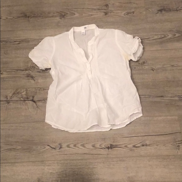 H&M Tops - White H&M Shirt Size 10